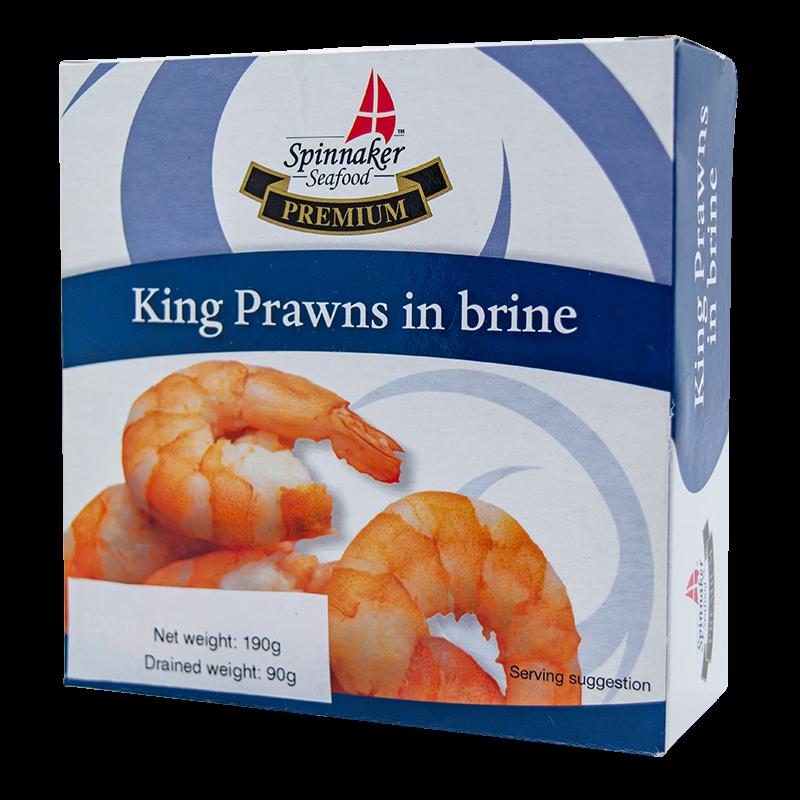 Spinnaker king prawns in brine