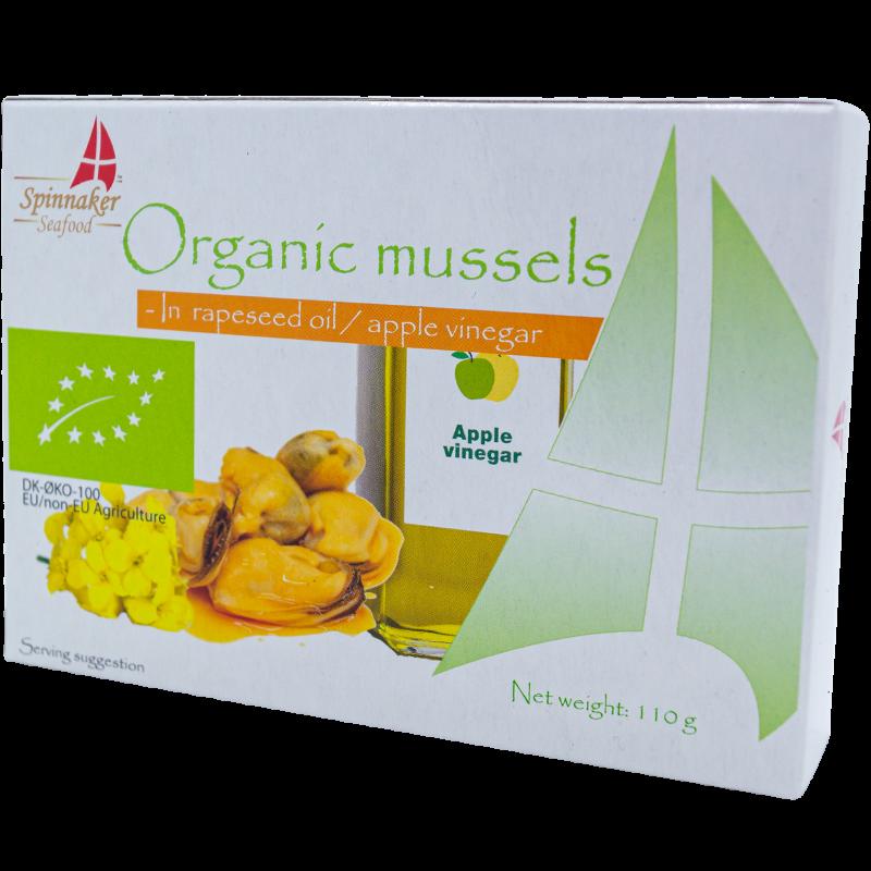 Spinnaker BIO mussels in organic rapeseed oil and apple vinegar